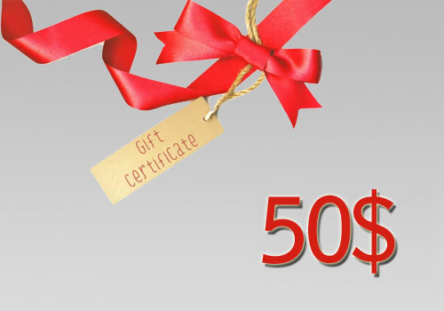 50$ Gift Certificate - Print at Home