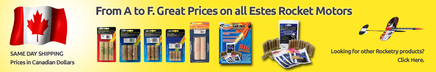 From A to F. Great Prices on all estes engines