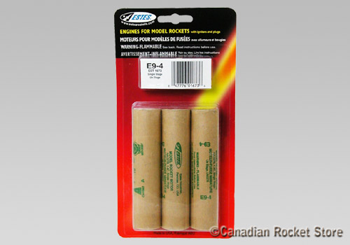E9-4 Mid-Power rocket engines. 3 Pack